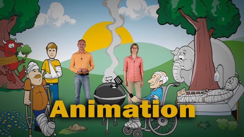 Der Zeichentrickfilm und Animationen